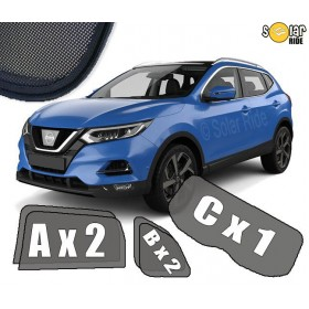 UV Car Shades, Sunshades, Car Window Sun Blinds Nissan Qashqai 2 II 2017-