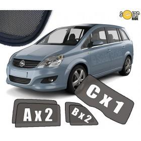 AUTOZONWERING, ZONWERING, ZONNESCHERMEN Opel Zafira B (2005-2014)
