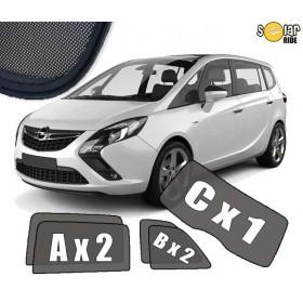 AUTOZONWERING, ZONWERING, ZONNESCHERMEN Opel Zafira Tourer 2012-2018