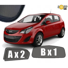 UV Car Shades, Sunshades, Car Window Sun Blinds OPEL CORSA E  2014-