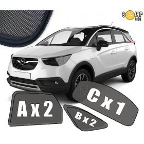 AUTOZONWERING, ZONWERING, ZONNESCHERMEN Opel Crossland X 2017-