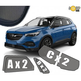 UV Car Shades, Sunshades, Car Window Sun Blinds Opel Grandland X (2017-)