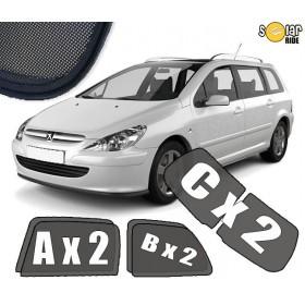 UV Car Shades, Sunshades, Car Window Sun Blinds Peugeot 307 SW / ESTATE (2001-2008)