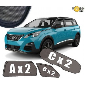 UV Car Shades, Sunshades, Car Window Sun Blinds PEUGEOT 5008 II (2017- )