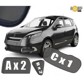 UV Car Shades, Sunshades, Car Window Sun Blinds Renault Scenic III Phase I