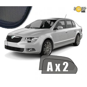 UV Car Shades, Sunshades, Car Window Sun Blinds Skoda Superb II