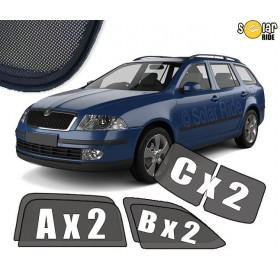 UV Car Shades, Sunshades, Car Window Sun Blinds Skoda Octavia II (2004-2012)  Estate