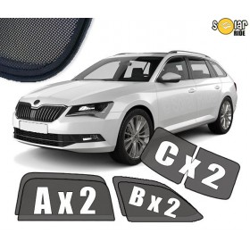 UV Car Shades, Sunshades, Car Window Sun Blinds Skoda Superb III Estate