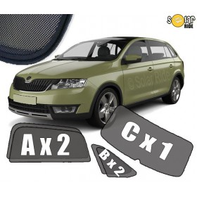 Sun Shades Skoda Rapid Spaceback 2013-