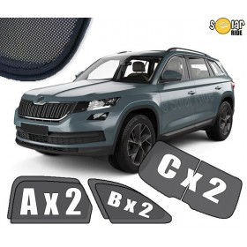 UV Car Shades, Sunshades, Car Window Sun Blinds SKODA KODIAQ (2016-)