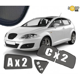 UV Car Shades, Sunshades, Car Window Sun Blinds Seat Leon II (2005-2009)