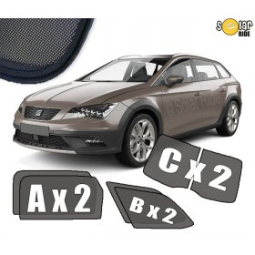 UV Car Shades, Sunshades, Car Window Sun Blinds Seat Leon 3 III ST (2012-2020