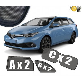 Cortinillas parasoles solares a medida para Toyota Auris 2 II Familiar (2012-2019)