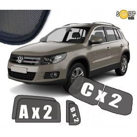 UV Car Shades, Sunshades, Car Window Sun Blinds VW Volkswagen Tiguan