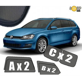 UV Car Shades VW Volkswagen Golf 7 VII Estate 2012-2019