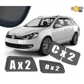 UV Car Shades, Sunshades, Car Window Sun Blinds VW Volkswagen Golf 6 Estate