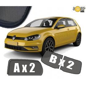 UV Car Shades, Sunshades, Car Window Sun Blinds VW Volkswagen GOLF 7