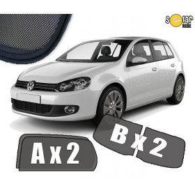 UV Car Shades, Sunshades, Car Window Sun Blinds VW Volkswagen GOLF 6