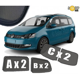 UV Car Shades, Sunshades, Car Window Sun Blinds VW Volkswagen Sharan II (2010-)