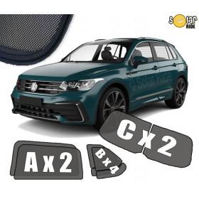 UV Car Shades, Sunshades, Car Window Sun Blinds VW Volkswagen Tiguan II (2016-  )