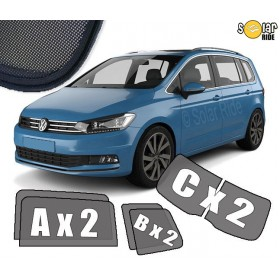 UV Car Shades, Sunshades, Car Window Sun Blinds VW Volkswagen Touran 2015-