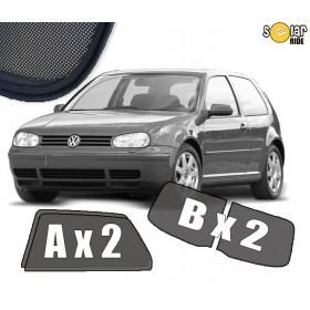 UV Car Shades, Sunshades, Car Window Sun Blinds VW Volkswagen GOLF 4  3dr