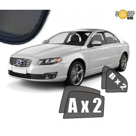 UV Car Shades, Sunshades, Car Window Sun Blinds VOLVO S80 (2006-2016)