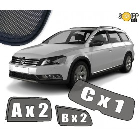 UV Car Shades, Sunshades, Car Window Sun Blinds VW Volkswagen Passat B7 Estate