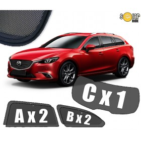 UV Car Shades, Sunshades, Car Window Sun Blinds Mazda 6 III Station Wagon 2012-