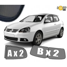 UV Car Shades, Sunshades, Car Window Sun Blinds VW Volkswagen Golf 5 3dr (2003-2009)