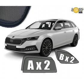 UV Car Shades, Sunshades, Car Window Sun Blinds Skoda Octavia 4 IV (2019-) Estate
