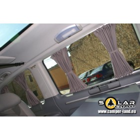 Gordijnen / Gordijnset 10-delig op rails Mercedes-Benz 639 Vito Viano EXTRA LANG Camper/ Kampeerauto